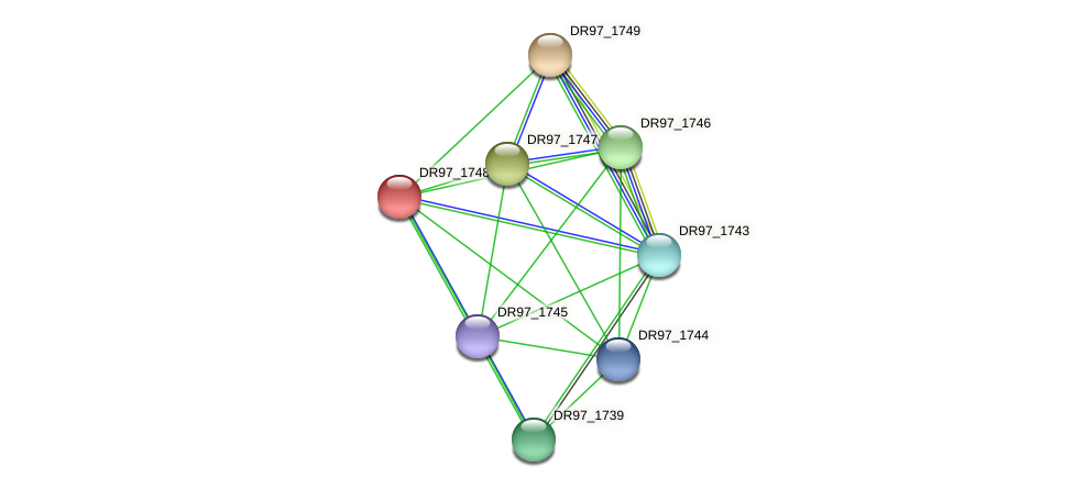 DR97_1748 protein (Pseudomonas aeruginosa) - STRING interaction network