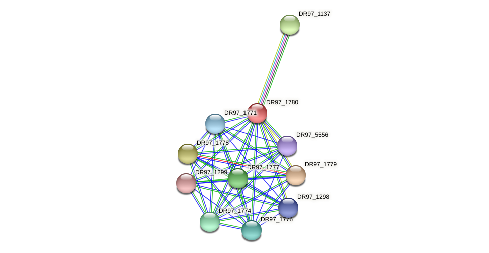 DR97_1780 protein (Pseudomonas aeruginosa) - STRING interaction network