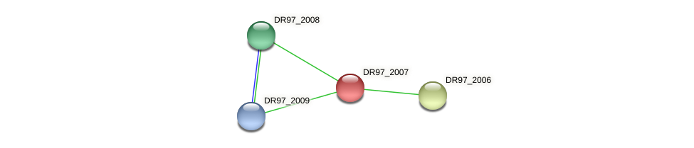 DR97_2007 protein (Pseudomonas aeruginosa) - STRING interaction network