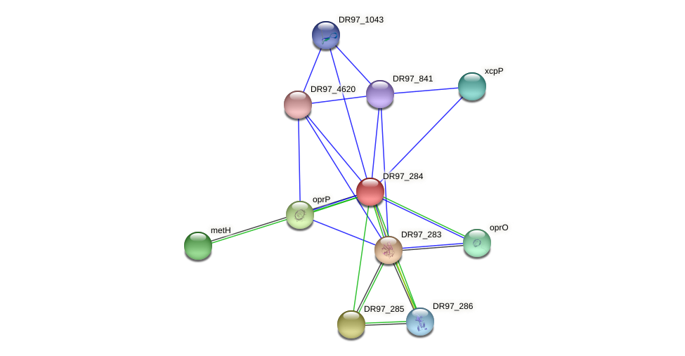 DR97_284 protein (Pseudomonas aeruginosa) - STRING interaction network
