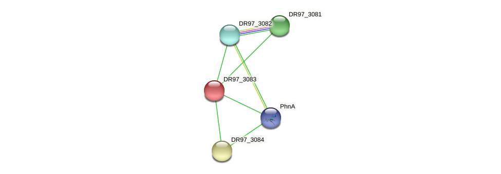 DR97_3083 protein (Pseudomonas aeruginosa) - STRING interaction network