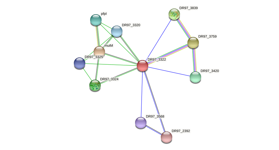 DR97_3322 protein (Pseudomonas aeruginosa) - STRING interaction network