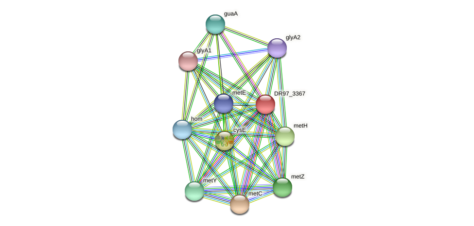 DR97_3367 protein (Pseudomonas aeruginosa) - STRING interaction network