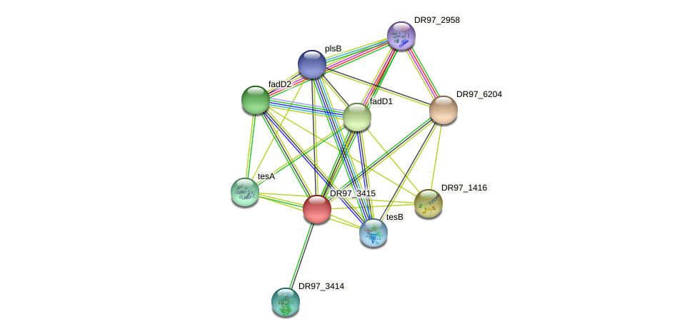 DR97_3415 protein (Pseudomonas aeruginosa) - STRING interaction network