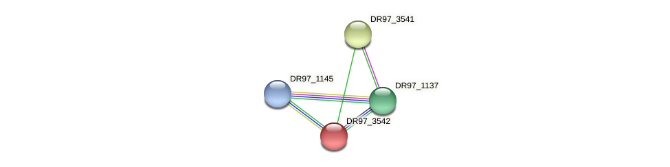 DR97_3542 protein (Pseudomonas aeruginosa) - STRING interaction network