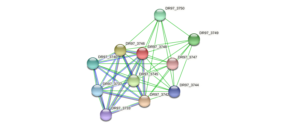 DR97_3748 protein (Pseudomonas aeruginosa) - STRING interaction network