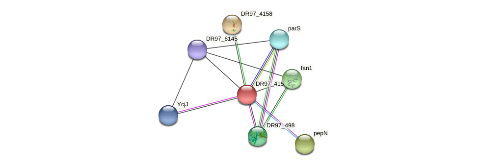 DR97_4159 protein (Pseudomonas aeruginosa) - STRING interaction network