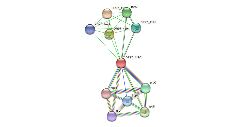 DR97_4195 protein (Pseudomonas aeruginosa) - STRING interaction network