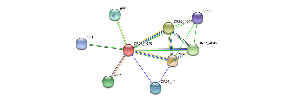 DR97_4649 protein (Pseudomonas aeruginosa) - STRING interaction network