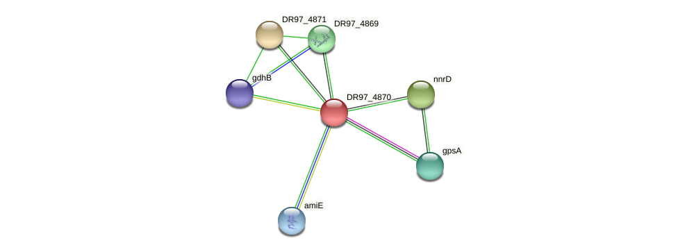 DR97_4870 protein (Pseudomonas aeruginosa) - STRING interaction network
