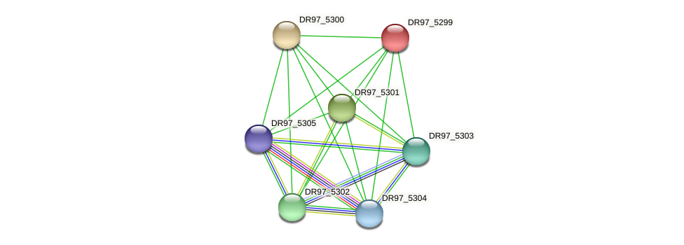 DR97_5299 protein (Pseudomonas aeruginosa) - STRING interaction network