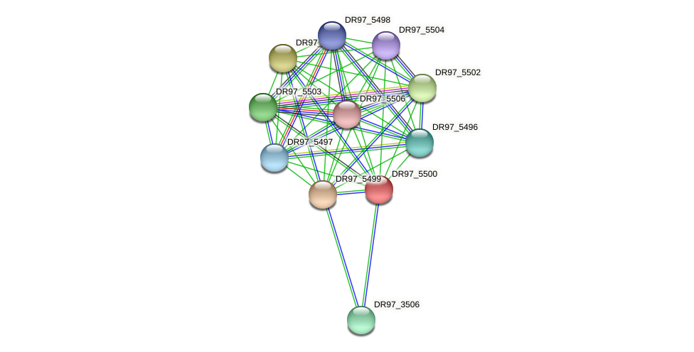 DR97_5500 protein (Pseudomonas aeruginosa) - STRING interaction network