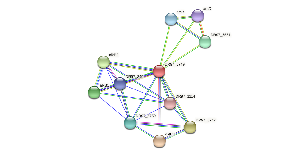 DR97_5749 protein (Pseudomonas aeruginosa) - STRING interaction network