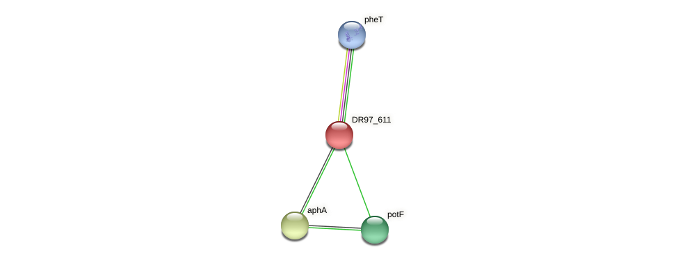DR97_611 protein (Pseudomonas aeruginosa) - STRING interaction network