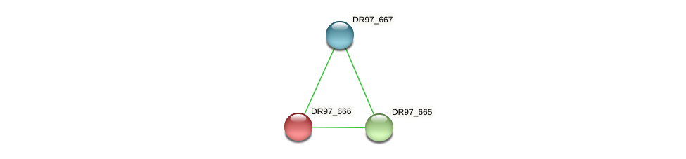 DR97_666 protein (Pseudomonas aeruginosa) - STRING interaction network