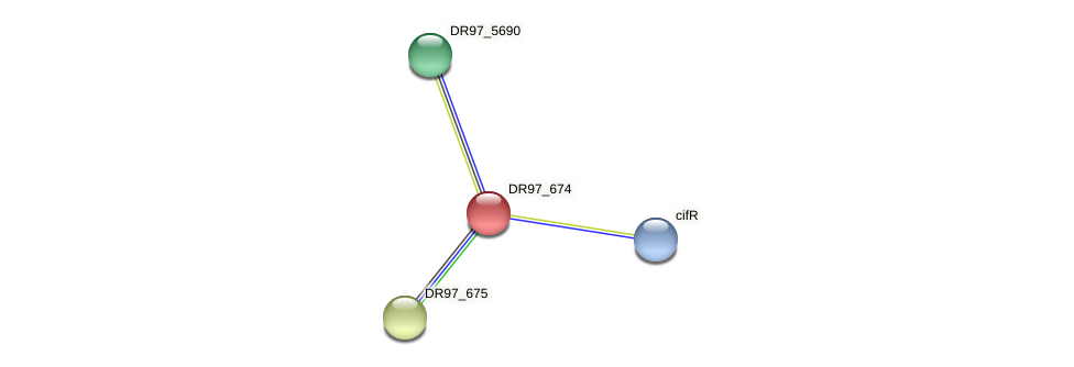 DR97_674 protein (Pseudomonas aeruginosa) - STRING interaction network