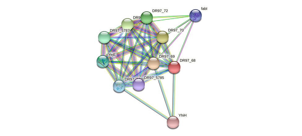 DR97_68 protein (Pseudomonas aeruginosa) - STRING interaction network