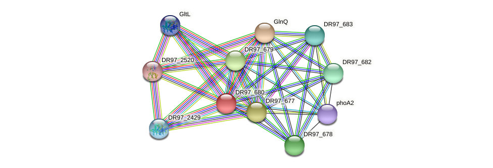 DR97_680 protein (Pseudomonas aeruginosa) - STRING interaction network