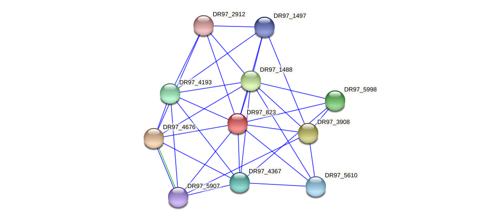 DR97_823 protein (Pseudomonas aeruginosa) - STRING interaction network