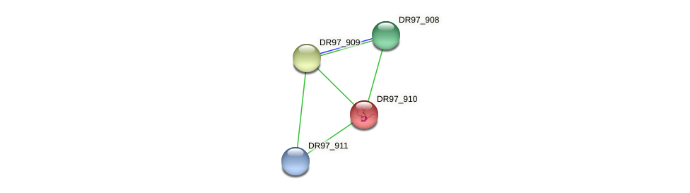 DR97_910 protein (Pseudomonas aeruginosa) - STRING interaction network