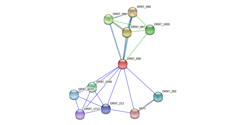 DR97_999 protein (Pseudomonas aeruginosa) - STRING interaction network