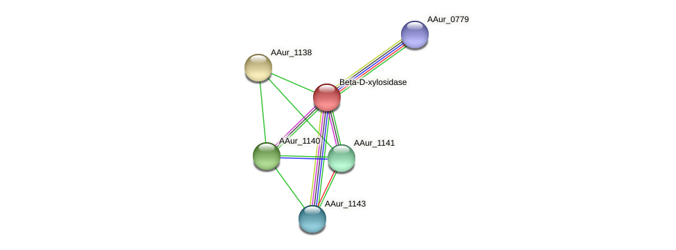 AAur_1139 protein (Arthrobacter aurescens) - STRING interaction network
