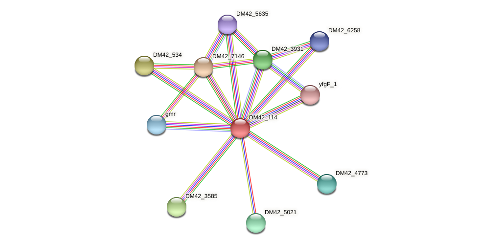 WL94_28650 protein (Burkholderia cepacia) - STRING interaction network