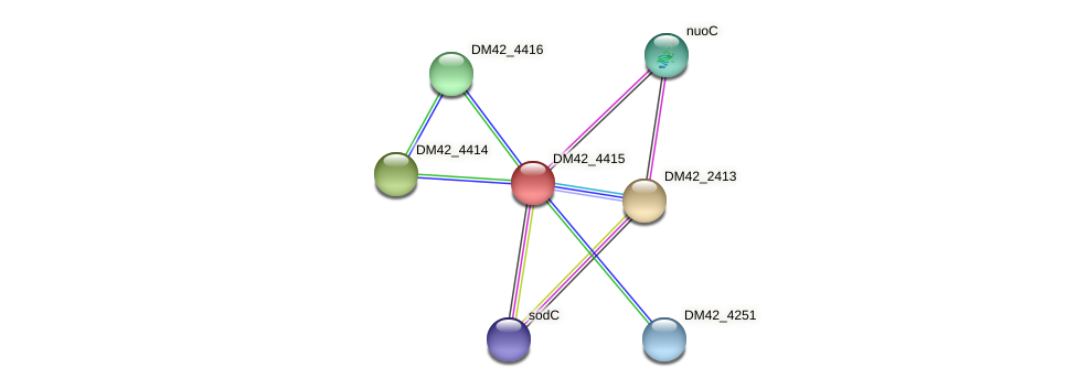 DM42_4415 protein (Burkholderia cepacia) - STRING interaction network