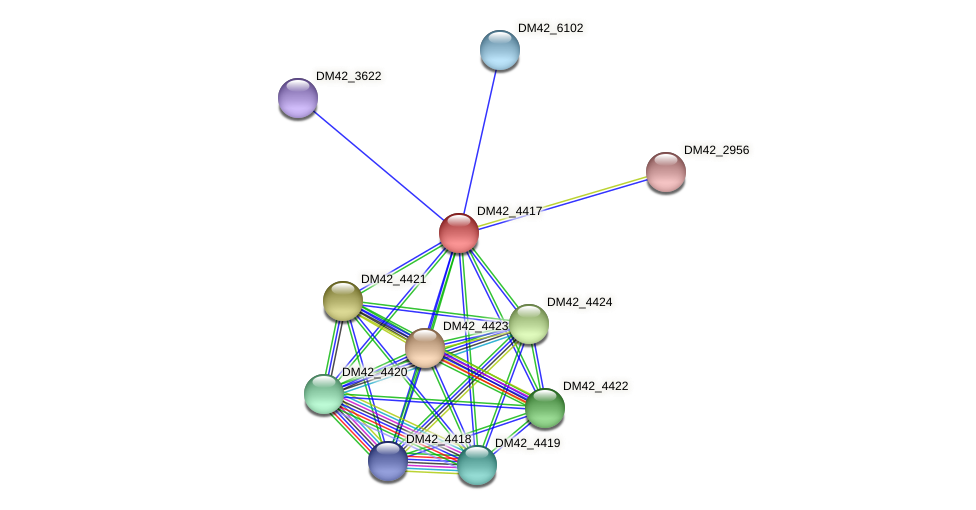WL94_11115 protein (Burkholderia cepacia) - STRING interaction network