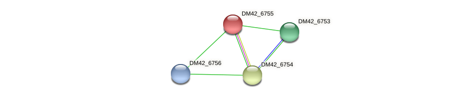 DM42_6755 protein (Burkholderia cepacia) - STRING interaction network