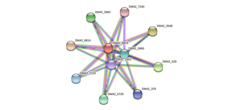 DM42_6815 protein (Burkholderia cepacia) - STRING interaction network