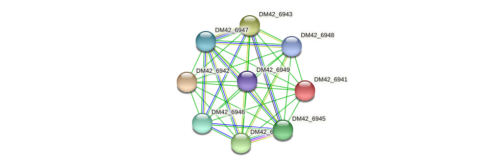DM42_6941 protein (Burkholderia cepacia) - STRING interaction network