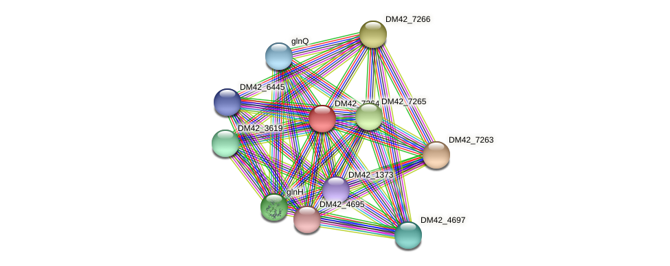 DM42_7264 protein (Burkholderia cepacia) - STRING interaction network