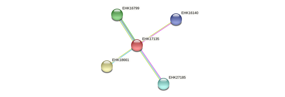 EHK17135 protein (Hypocrea virens) - STRING interaction network