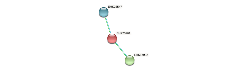 EHK20761 protein (Hypocrea virens) - STRING interaction network