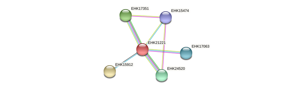 EHK21221 protein (Hypocrea virens) - STRING interaction network