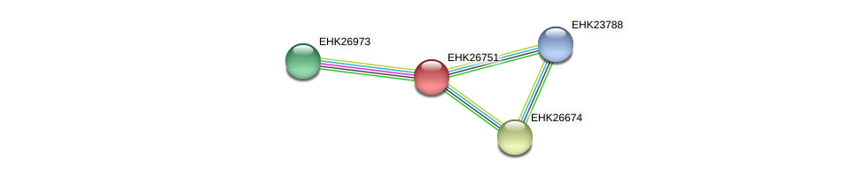 EHK26751 protein (Hypocrea virens) - STRING interaction network