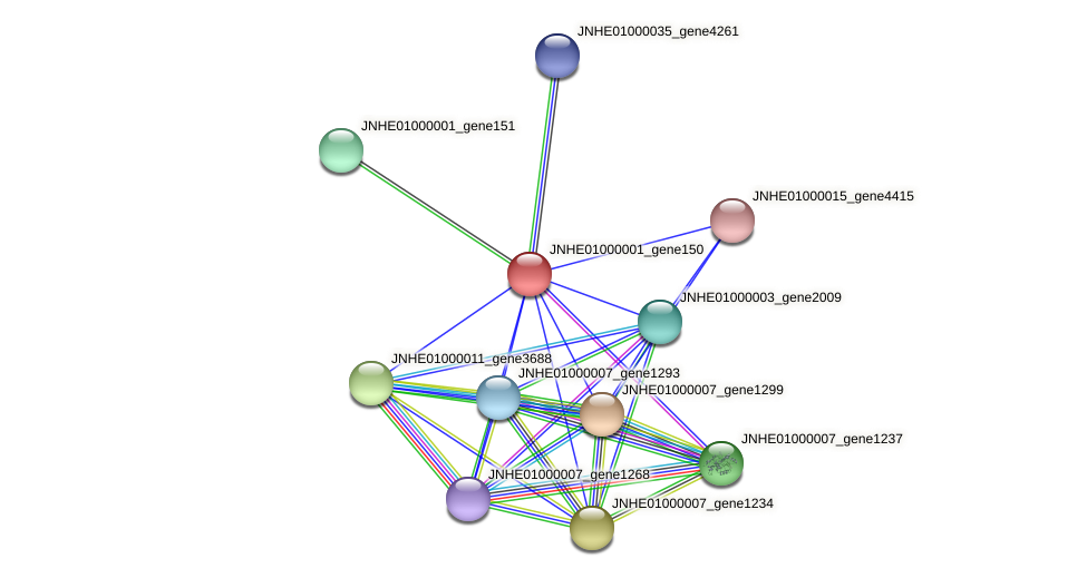 JNHE01000001_gene150 protein (Pseudomonas oleovorans) - STRING interaction network