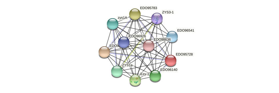 EDO95728 protein (Chlamydomonas reinhardtii) - STRING interaction network