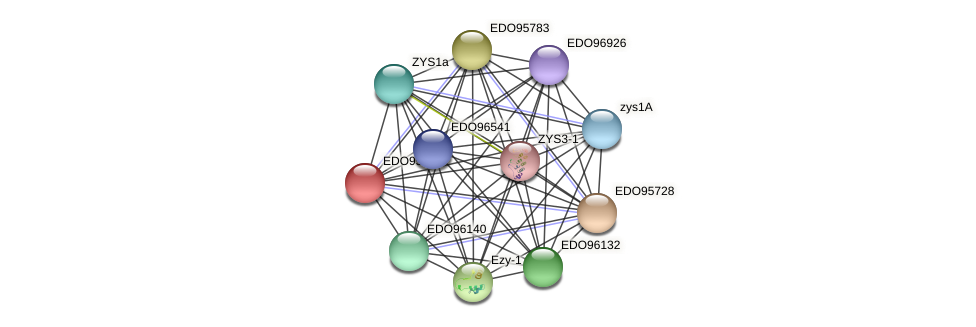 EDO95729 protein (Chlamydomonas reinhardtii) - STRING interaction network