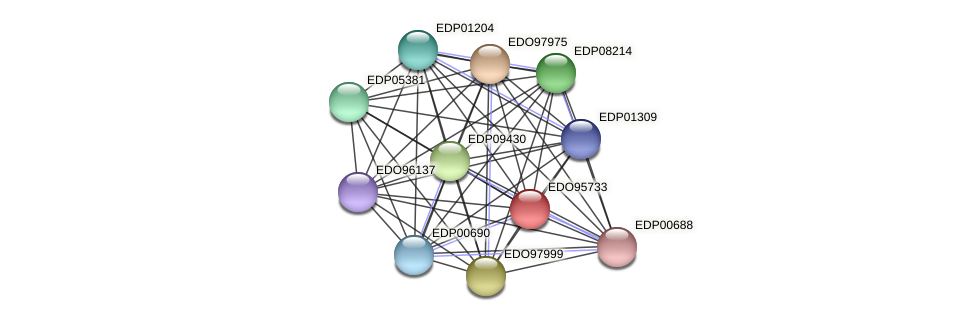 EDO95733 protein (Chlamydomonas reinhardtii) - STRING interaction network