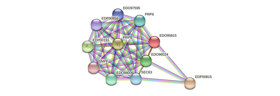 EDO95815 protein (Chlamydomonas reinhardtii) - STRING interaction network