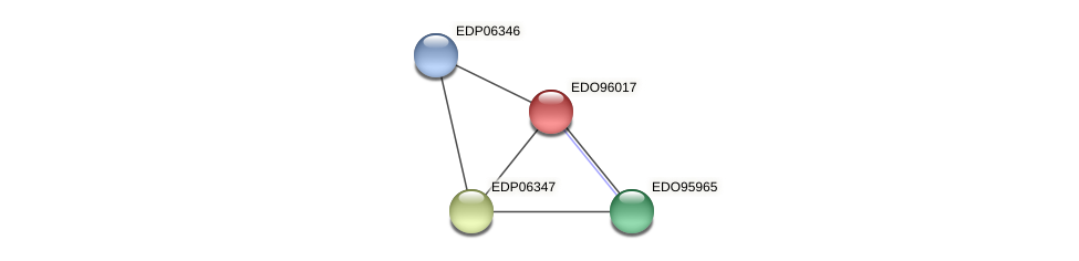 EDO96017 protein (Chlamydomonas reinhardtii) - STRING interaction network