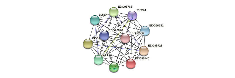 EDO96140 protein (Chlamydomonas reinhardtii) - STRING interaction network