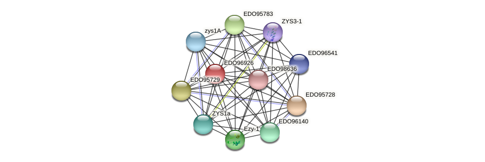 EDO96926 protein (Chlamydomonas reinhardtii) - STRING interaction network