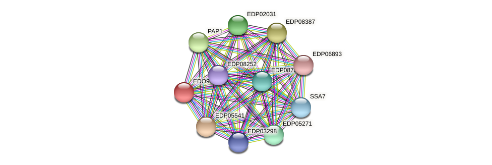 EDO97006 protein (Chlamydomonas reinhardtii) - STRING interaction network