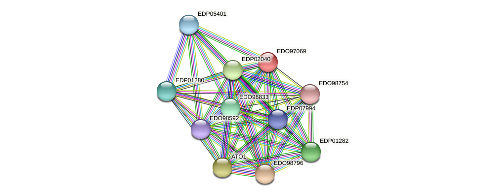 EDO97069 protein (Chlamydomonas reinhardtii) - STRING interaction network