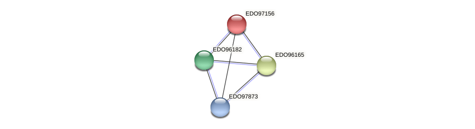 EDO97156 protein (Chlamydomonas reinhardtii) - STRING interaction network