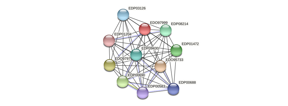 EDO97999 protein (Chlamydomonas reinhardtii) - STRING interaction network