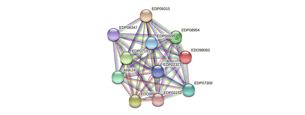 EDO98093 protein (Chlamydomonas reinhardtii) - STRING interaction network